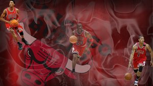Red Chicago Bulls Wallpaper by JaidynM