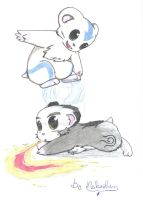 wishpic aang n iroh hamsters by Nekoshen