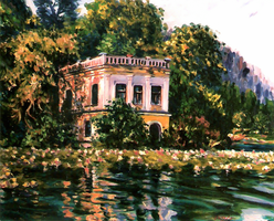 A Villa at the Lake Woerth by Art-deWhill