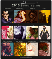 2015 Summary of Art by delusionmaker