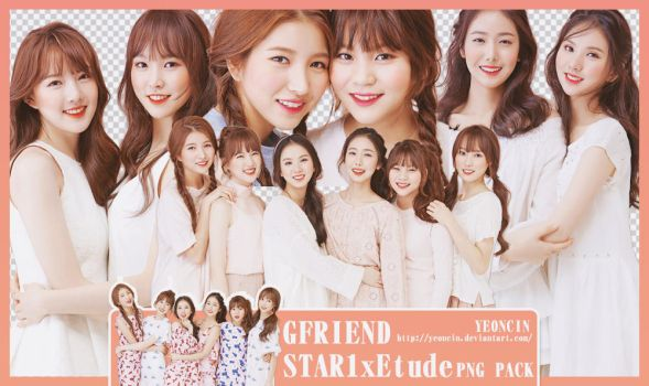 GFriend - STAR1 x Etude PNG pack by YEONCIN by yeoncin
