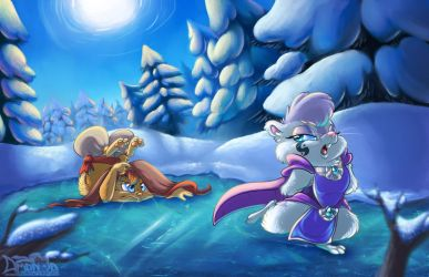 Ice Skating by AmandaDaHamster