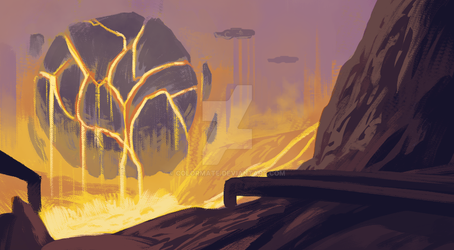 Sketch - Lava Fuel Station by Colormate