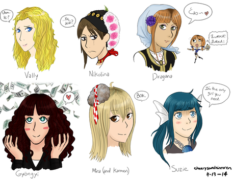 What a Lovely Bunch of OCs by CheerySoundNinRoren