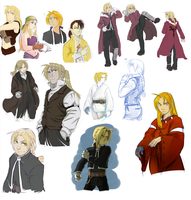 FMA doodlings p4 - mostly Ed by Fennethianell