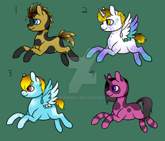 More Male pony Adopts 3/4 OPEN by Darumemay
