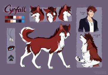 [CM] Cynfall ref sheet by Mistrel-Fox