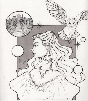 Inktober Day 6- The Labyrinth  by jenc