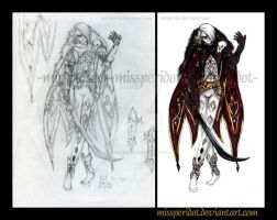 Random Sketches- Ghirahim- Twilight Princess Style by MissPeridot