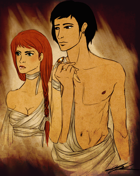 Hades and Persephone by wickedevilbunny
