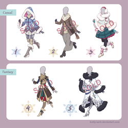 Winter Outfit Design Adoptables - Auction (CLOSED) by Kutty-Sark