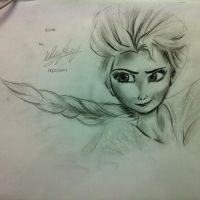 A Sketch of Queen Elsa from Frozen by yours truly. by leebengsiang