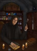 Snape by merggiona