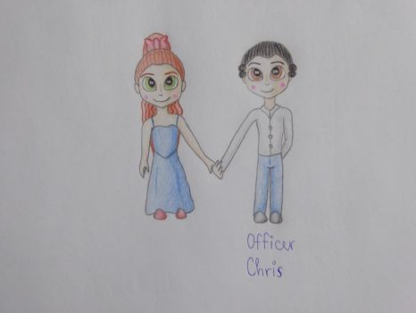 Officer Chris and his sister, when they were kids by StarryJerry66