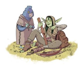 Nott and Kiri (Critical Role) by Nuclearpasta