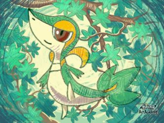 Pokemon Art Academy - Snivy by GamerGyrl