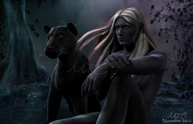 Drizzt and Guen 01 by michellecelebrielle
