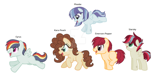 Clidesdale, Damson, and Phoenix's kids by DubstepicDJ