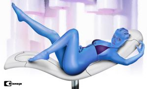 Naked Liara by 0tamago