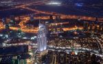 Dubai At Night (Burj Khalifa) Wallpaper Edition by skywalkerdesign