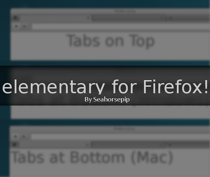 elementary for Firefox 1.0 by Seahorsepip