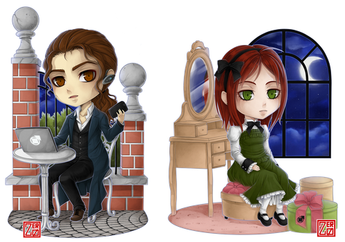 PC - Claudia Vonigner and Lyle Kersten chibi by zero0810