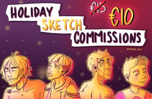 [PAYPAL] Special Holiday Sketch Commissions! by IdiotTwins