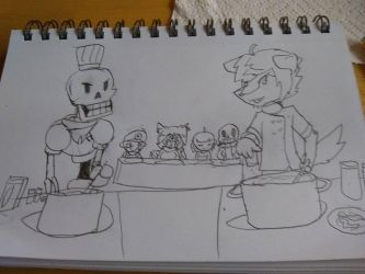 cook off doodle: Rusty vs Paprus by RustyDaPup