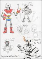 Undertale: Papyrus The Skeleton by Helen-M123