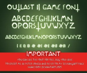 Outlast 2 Game Font version 1 by Snakeyboy