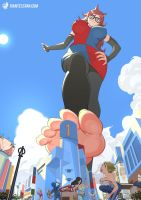 Giantess Android 21 by giantess-fan-comics