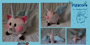 Pigacorn Plush by DemodexPlush