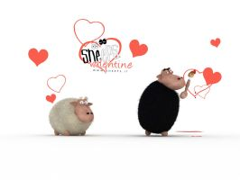 sheeps valentine by bsign