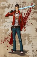 Travis Touchdown by sketchtastrophe