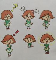 Green/Turnip Villager Expressions by FilthyRaccoon