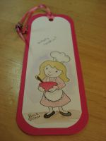 girl chef bookmark by beckadoodles