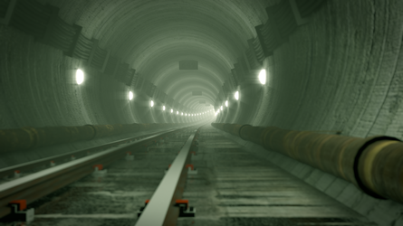 Rail Tunnel Fallout 3 style by f1r3w4rr10r