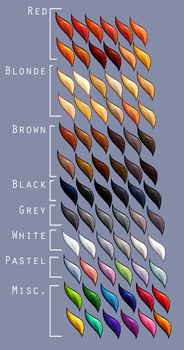 Hair colour swatches SUPREME by Lizalot