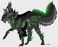 Armoured Wolf offer to adopt (CLOSEDand ANIMATED!) by ATwistedRumour
