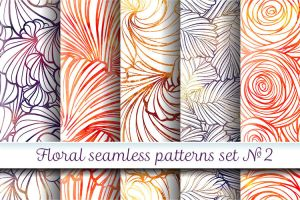 Floral patterns set #2 by Hardia-999
