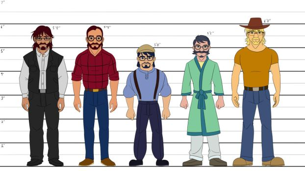 Fiction About Metafiction - Cast Height Chart by Trinityinyang