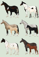 Mare and Foal Adoptables Batch - CLOSED by Anonymous-Shrew
