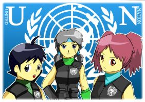 UN soldiers in my Keroro dojin by Prafa-AR