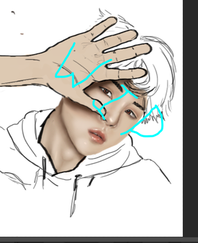 Wip of Bts Suga by posund