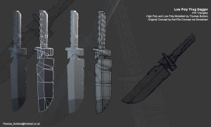 Low Poly Thug Knife by MrNinjutsu