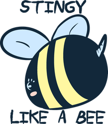 ~Stingy Like a Bee~ for T-shirts and Accessories by StormyGlaze