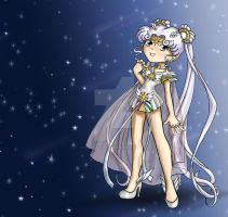 Chibi Sailor Cosmos by thedustyphoenix