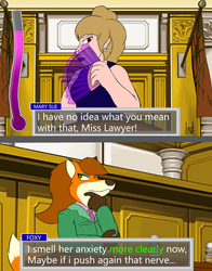 Ace attorney: Foxy Anderson by Jedader by Hypercat-Z