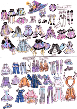 Custom Mix and Match outfits 14 by Guppie-Vibes