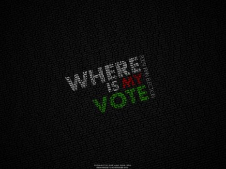 Where Is My Vote Typography by sinajigul